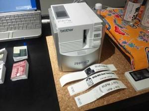 おなじみブラザー工業さんのNFCプリンタRL-700S(製造終了品)の展示。