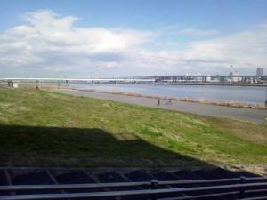 荒川。ロックゲートの下から撮影。荒川UBのモデルが隅田川と知ってビックリ。