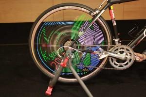 NT京都2012へようこそ、な自転車LED