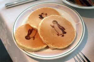 Suicaのペンギンのパンケーキ。