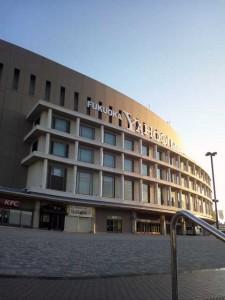 早朝の福岡ドームなう。正確には福岡Yahoo!JAPANドーム。
