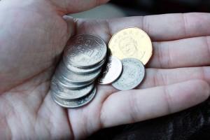 台湾ドル硬貨。圓と書かれています。