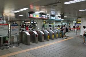 MRT乗り場。