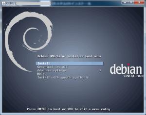 debianインストール画面